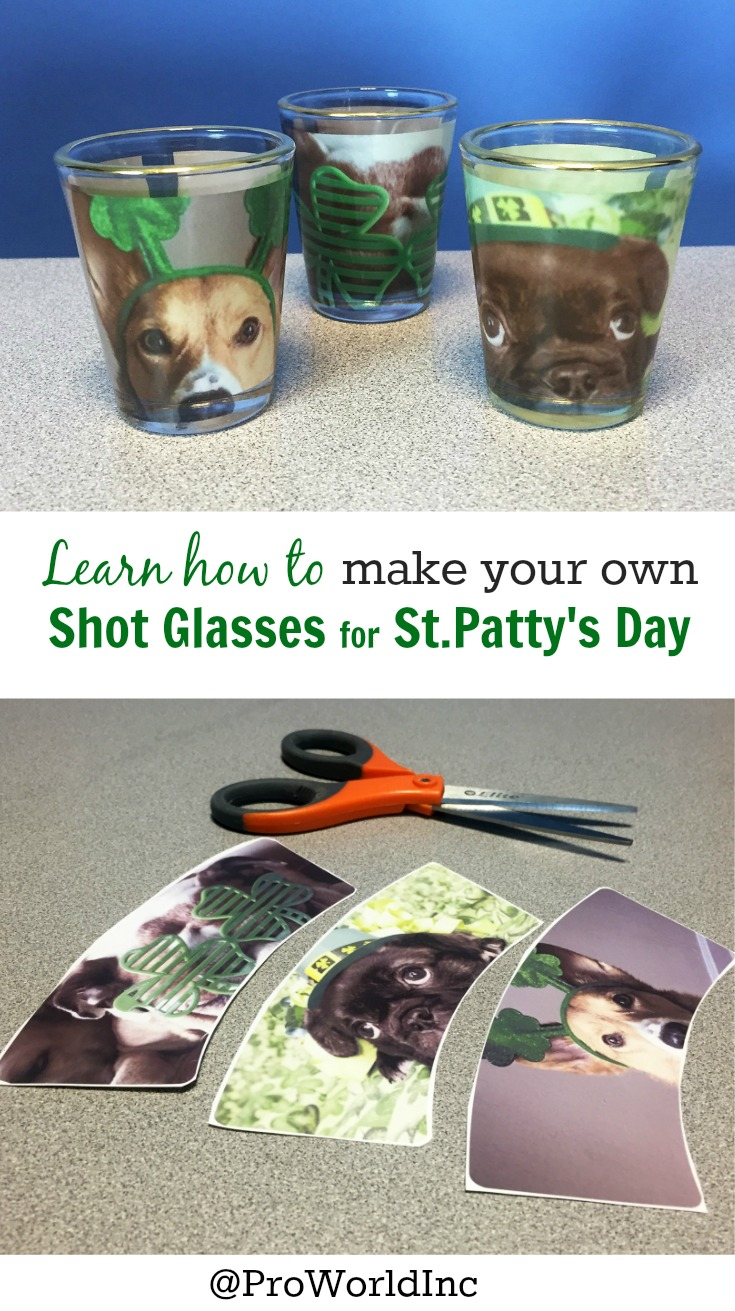 Make your own shot Glasses for St. Patty's Day! See how at @proworldinc