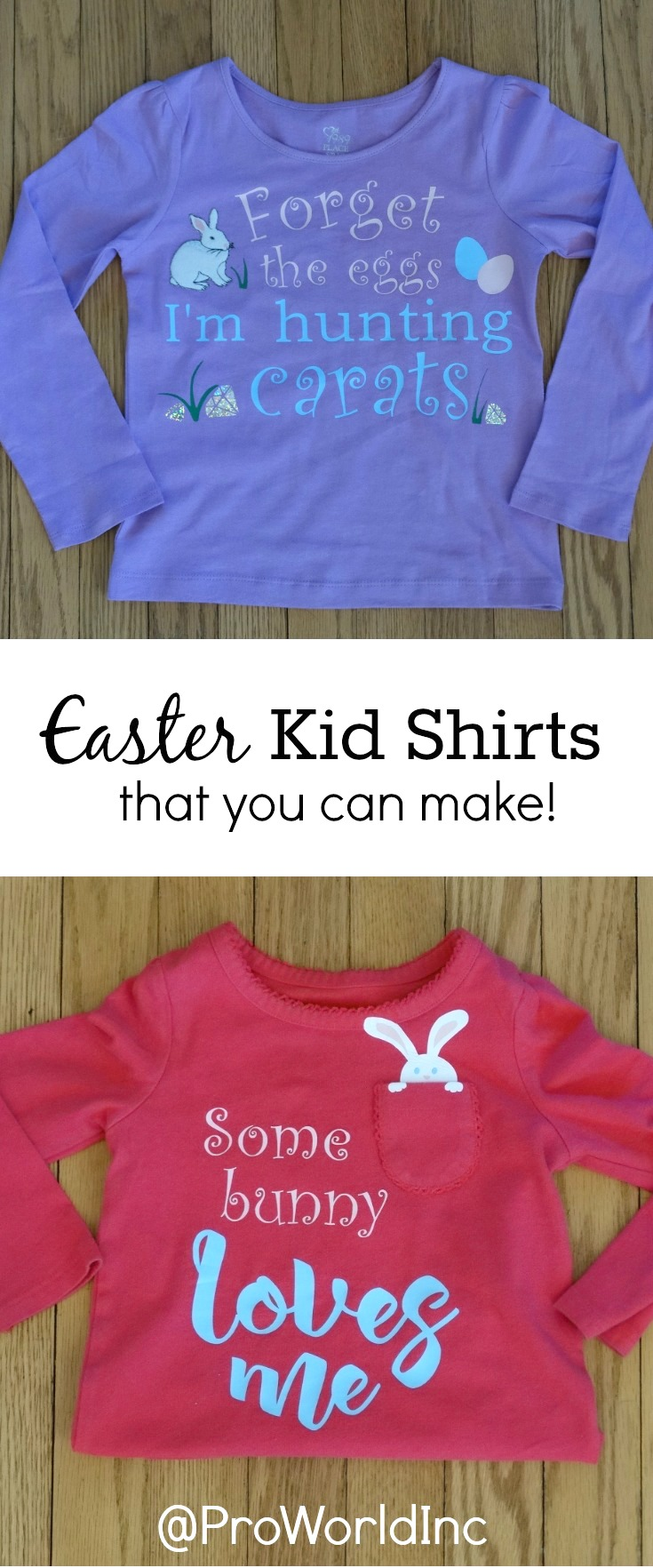 Make your own Easter kid shirts!