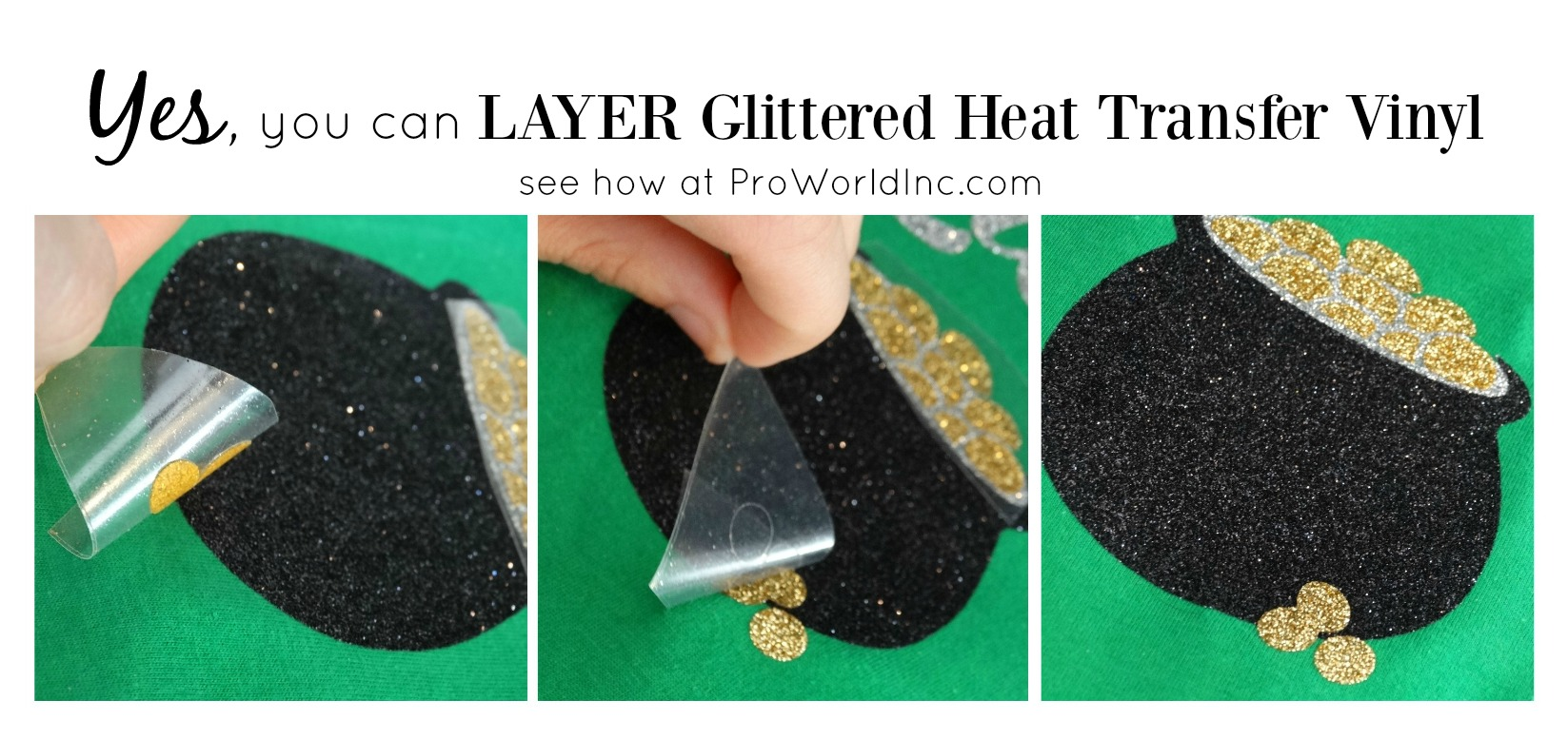 yes you can layer glittered HTV see how at @proworldinc