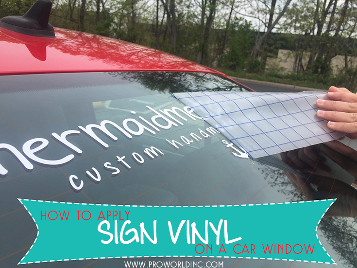 How to apply sign vinyl to a car window