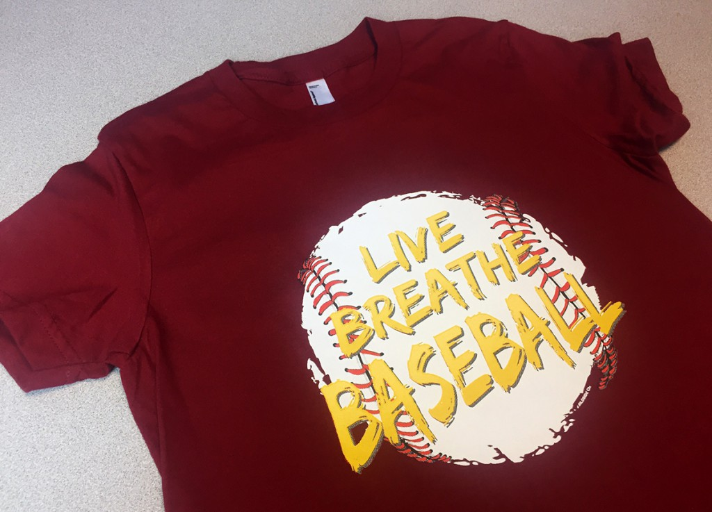 Live Breathe Baseball heat transfer