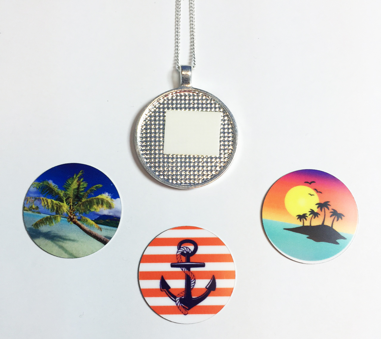 Sublimation on bezel pendants