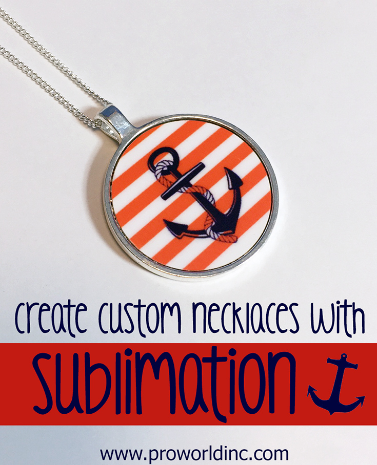 Custom jewelry with sublimation pendants pro world inco custom necklaces with sublimation aloadofball Image collections