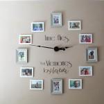 photo clock wall