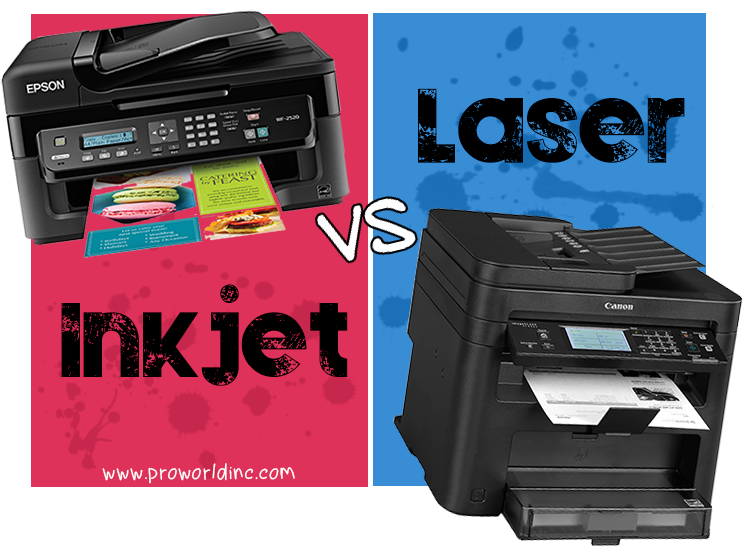 Heat transfer paper inkjet vs laser pro world inc pro for Color laser printer vs inkjet cost per page