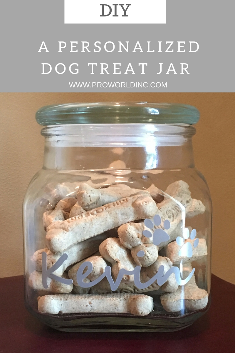 DIY- A PERSONALIZEDDOG TREAT JAR
