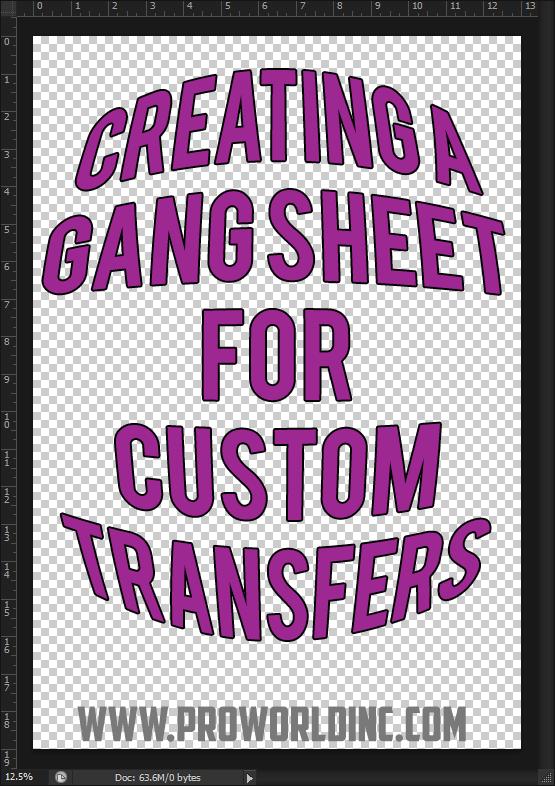 creating a gang sheet for custom transfers