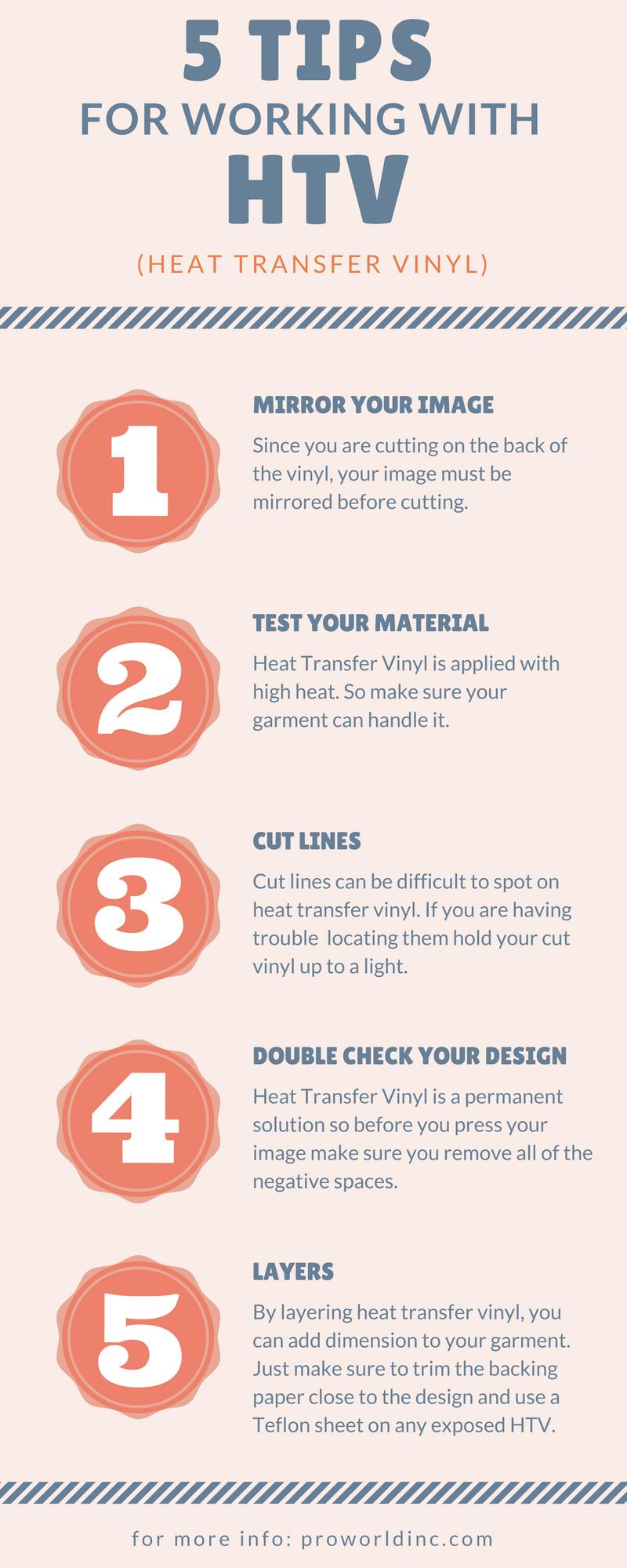 heat transfer vinyl tips