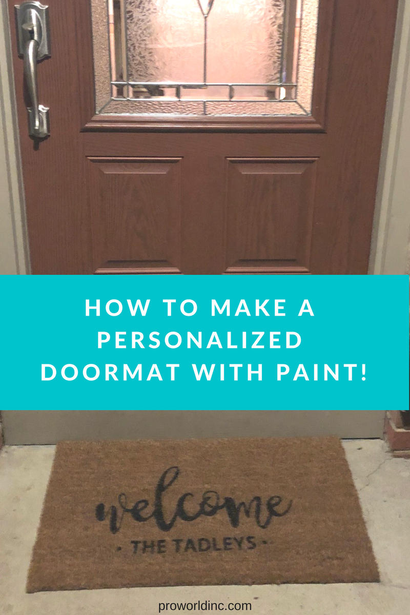 how to make a personalized doormat with paint!