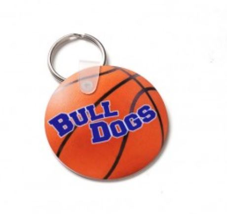 sublimated basketball keychain