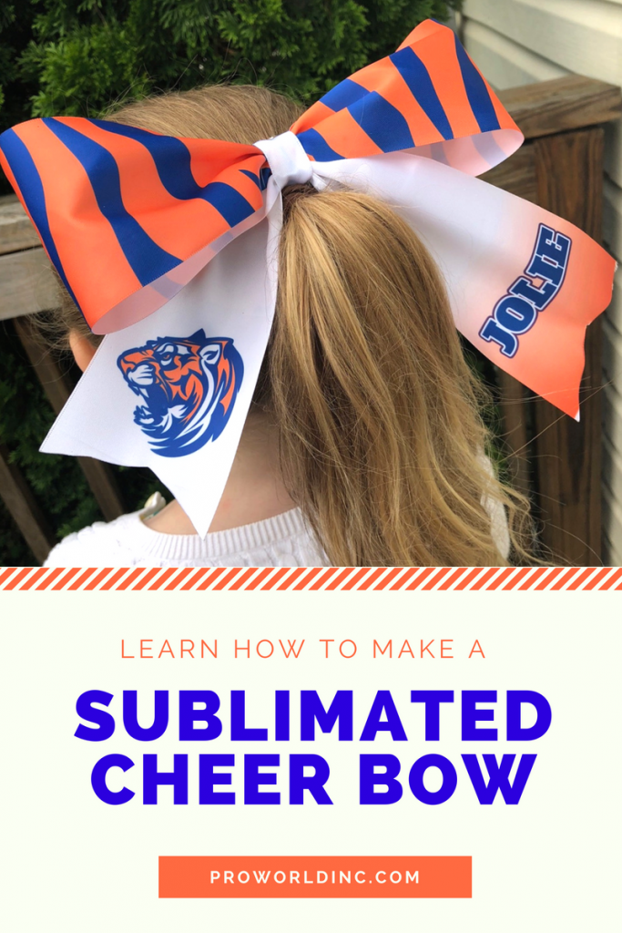 sublimated cheer bow