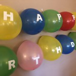 personalize a latex balloon - make a balloon banner