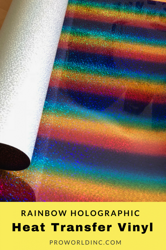 imagine all of the things you can make with rainbow holographic HTV