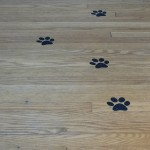 paw prints for a puppy party from vinyl