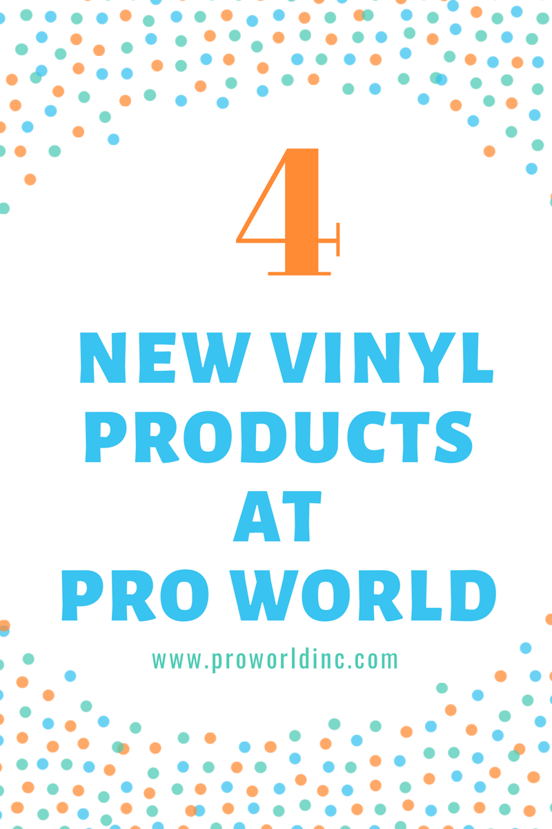 New vinyl products at Pro World!!! Check them out