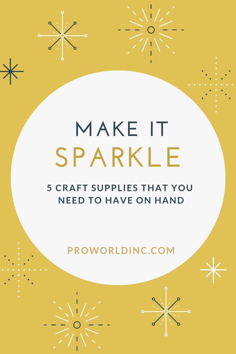 sparkling craft supplies