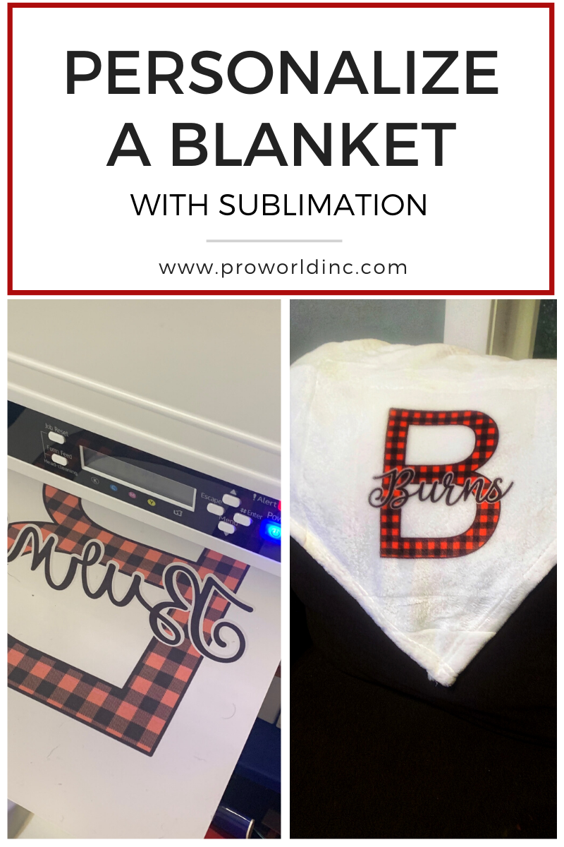 blanket with sublimation