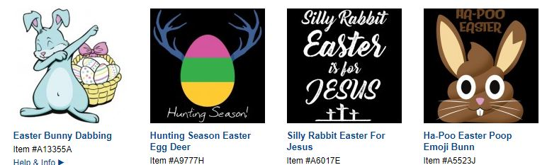 easter heat transfers