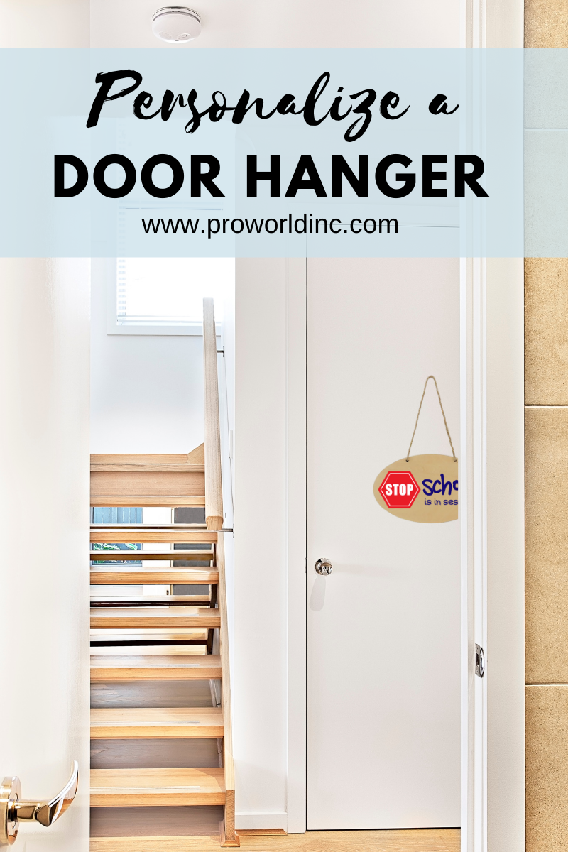 Personalize a door hanger