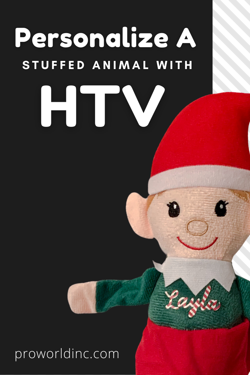 stuffed animal with HTV