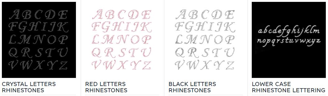 rhinestones letters