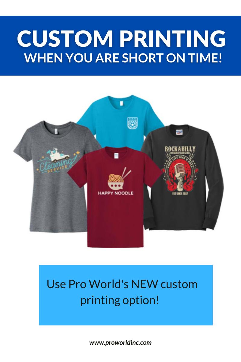 custom printing at pro world
